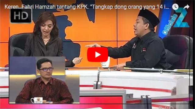 Di Mata Najwa, Fahri tantang KPK: Tangkap Dong 14 Orang yang Kembalikan Duit, Berani Gak!