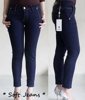 Celana Jeans Wanita Bahan Soft jeans, Celana jeans Wanita channel