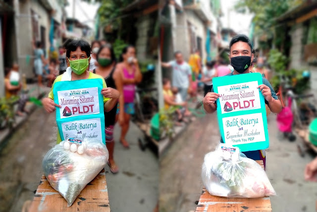 PLDT partners with Philippine Business for Social Progress (PBSP) to provide food packs and vitamins to families in Malabon and Cebu