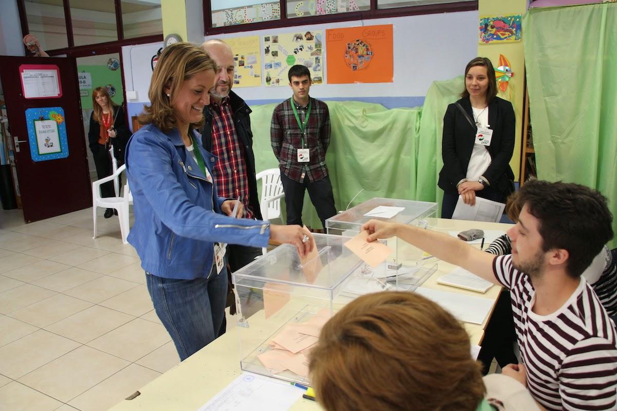Votación de Amaia del Campo en las elecciones municipales de 2015
