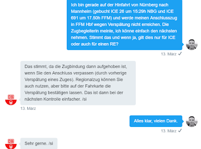 Der Kundenservice der Deutschen Bahn auf Twitter.
