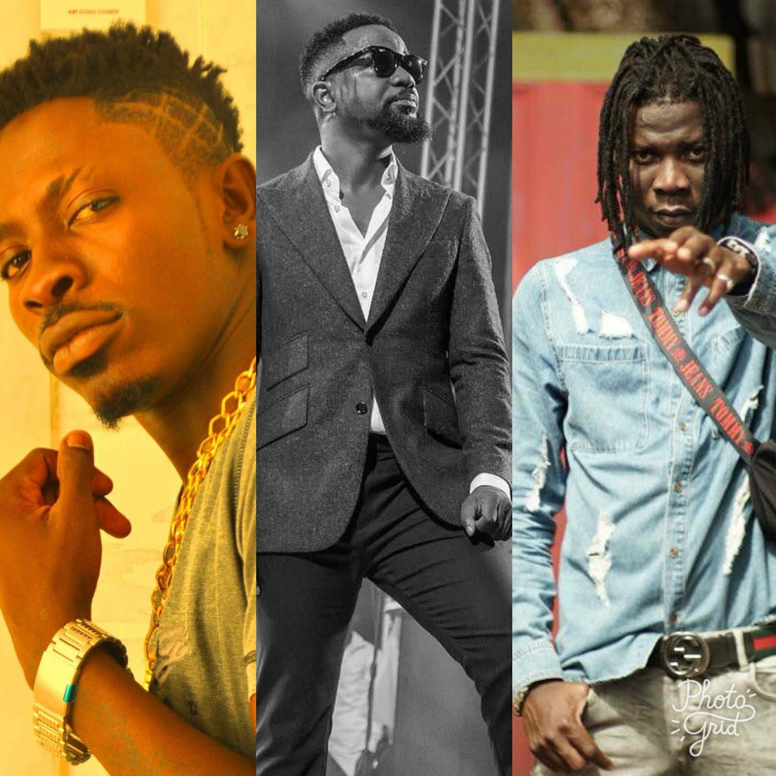 Image result for stonebwoy and shatta wale sarkodie
