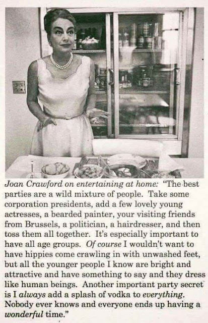 Joan Crawford's Party Tips!