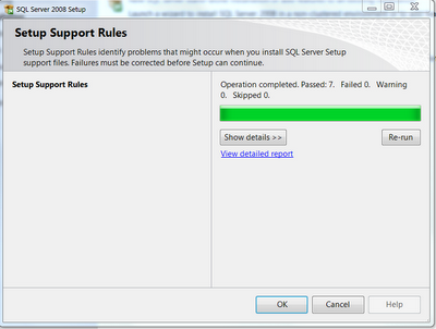 SSMS support rules