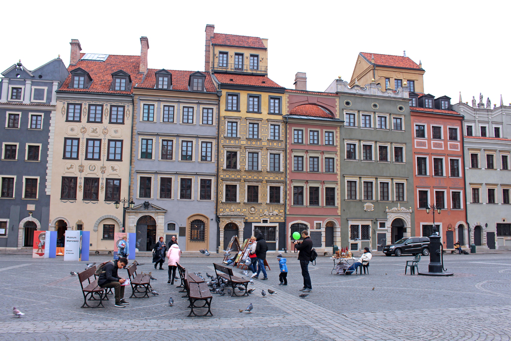 Warsaw Old Town square - luxury travel blog