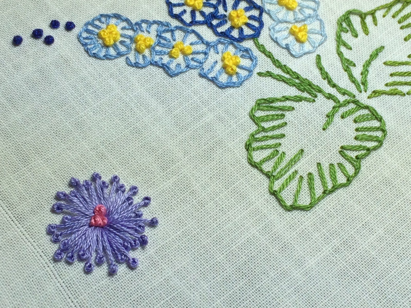 Embroidered Pistil Stitch Flower