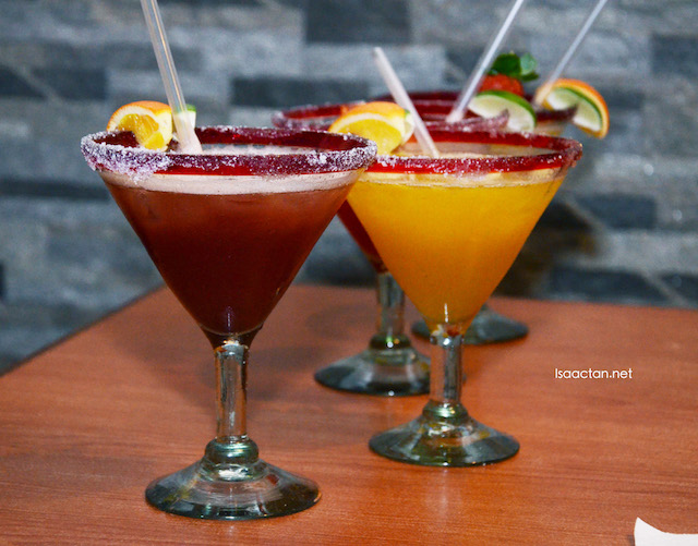 Romaritas to quench your thirst and to down all the other good food