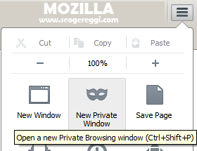 Open A New Private Browsing Windows - Mozilla
