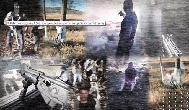El CJNG, Los Viagras y CSR los temibles videos de las ejecuciones del narco