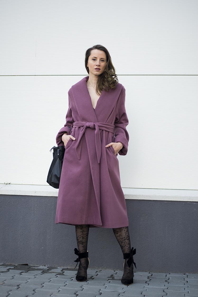 purple robe coat palton matlasat petrecut