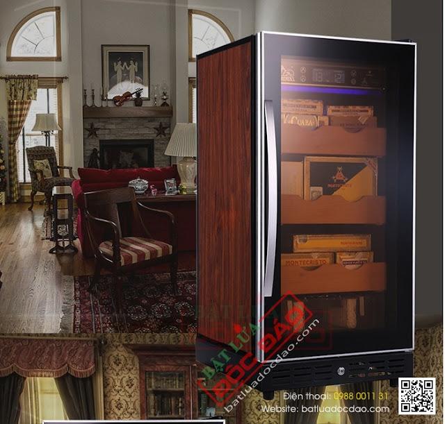 Hình ảnh tủ bảo quản cigar (xì gà) 3 tầng 600 điếu RA777?