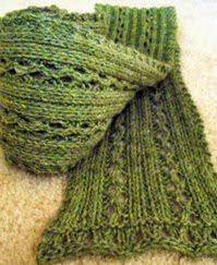 http://www.ravelry.com/patterns/library/karaoke-eyelet-lace-scarf
