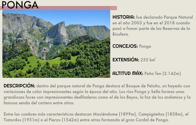 PARQUE NATURAL DE PONGA RESERVA DE LA BIOSFERA