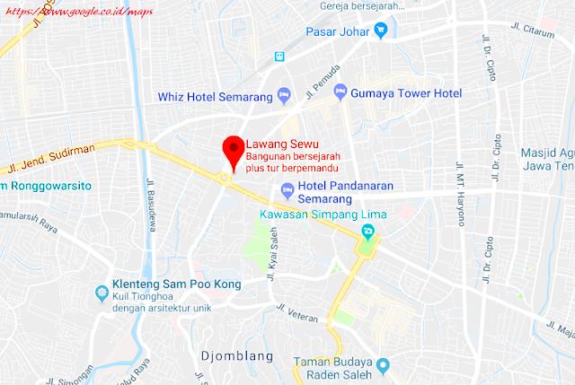 Peta Lokasi Lawang Sewu Semarang