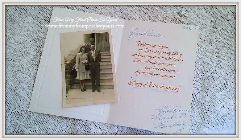 Vintage Thanksgiving Card- From My Front Porch To Yours