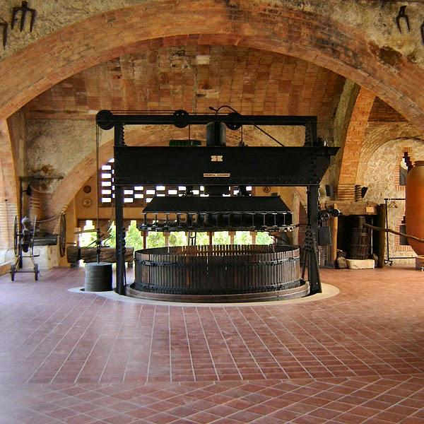 Old wine press at Codorniu