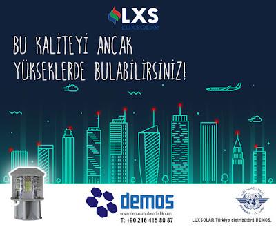 Luxsolar, Türkiye'deki en referanslı projelerin uçak ikaz lambası markası