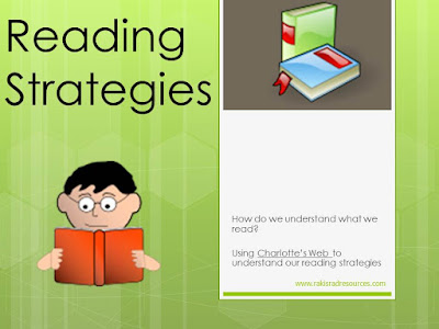 reading strategies power point - downloadable resource from Raki's Rad Resources