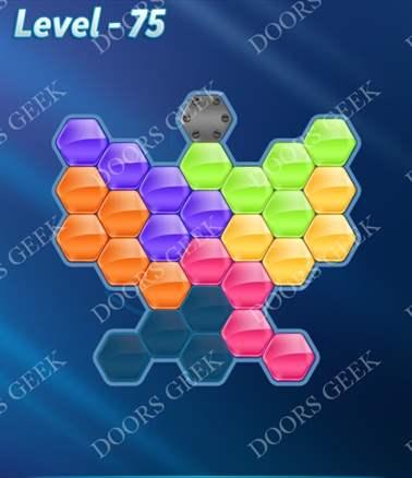 Block! Hexa Puzzle [Intermediate] Level 75 Solution, Cheats, Walkthrough for android, iphone, ipad, ipod