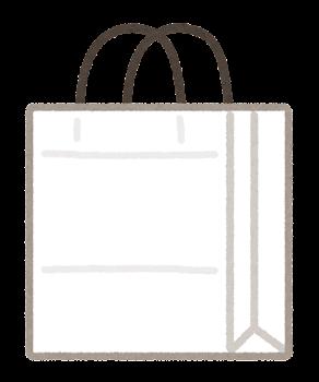 紙袋のイラスト(白)