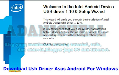 Download Usb Driver Asus Android For Windows