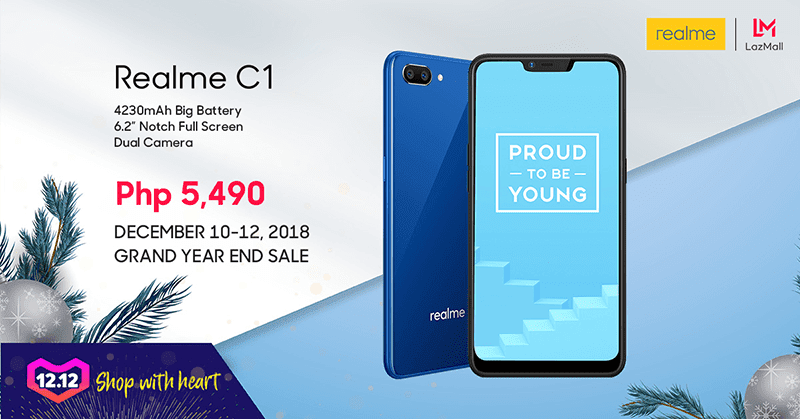 Realme C1 will be on sale during the Lazada 12.12 Grand Christmas Sale