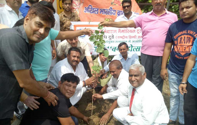 Planting by Akhil Bharatiya Brahman Sabha and Bhagat Shree Mewaram Memorial Trust