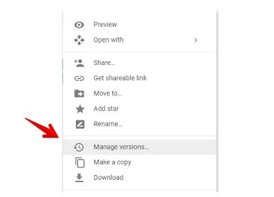 Langkah menyembunyikan File di google drive