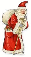 Weihnachtsmann mit bodenlangem Mantel