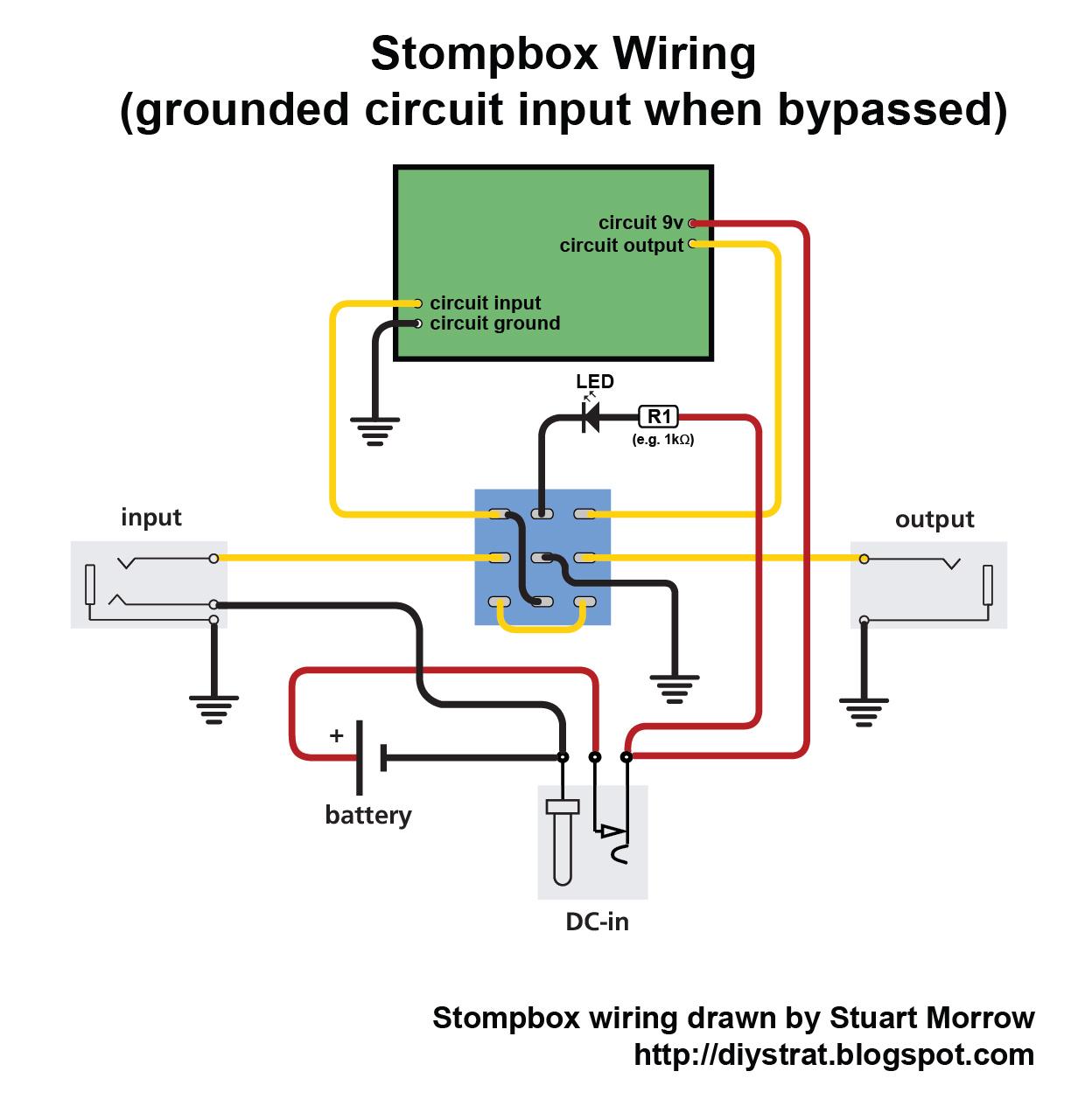 mono barrel input jack wiring