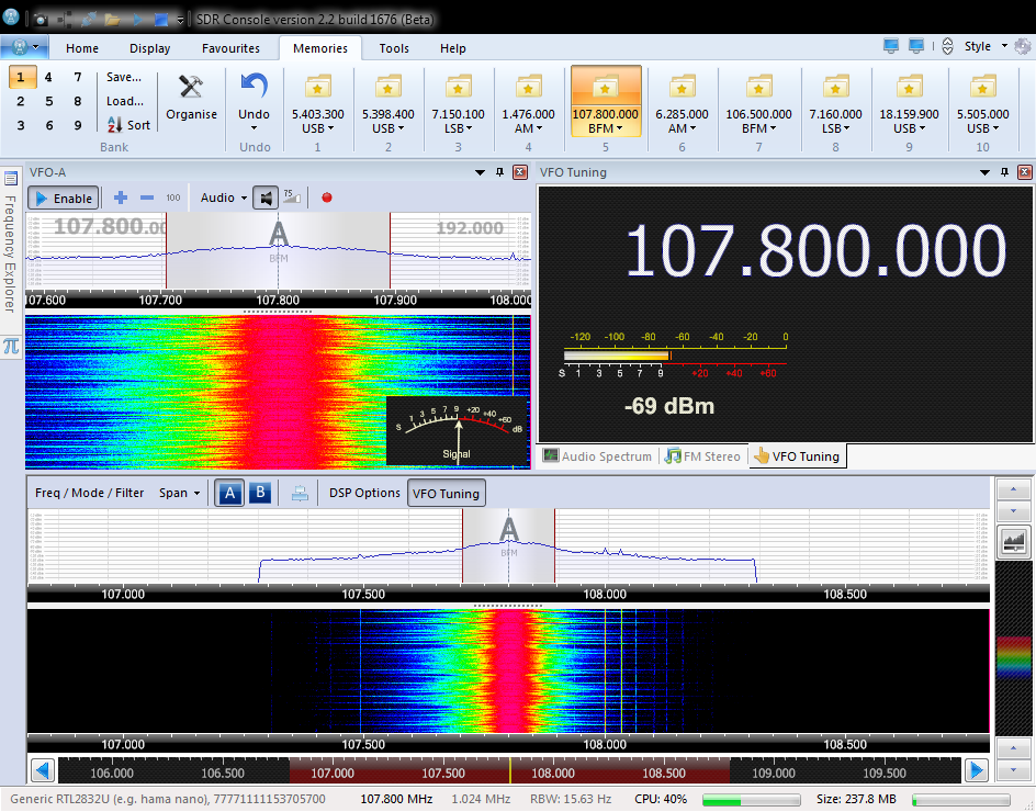 M3GHE on radio: Adding Support for RTL SDR USB dongles to