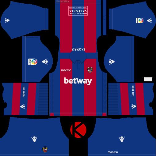 Levante UD 2018/19 Kit - Dream League Soccer Kits