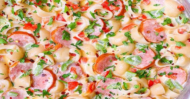 Spicy, Creamy Sausage And Pasta Shells Recipe