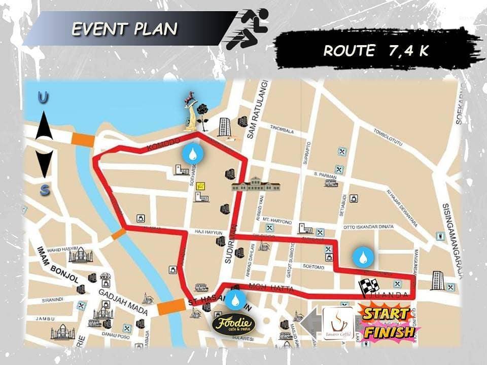 Riot Palu Charity Run - 1st Anniversary Route 2018