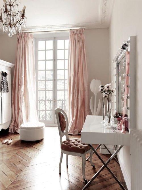 Cortina cor de rosa. Blog Achados de Decoração