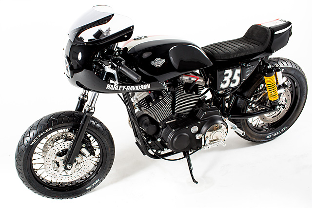 Racing Caf U00e8  Harley Xl 1200s 2001 By Rock Solid Motorcycles