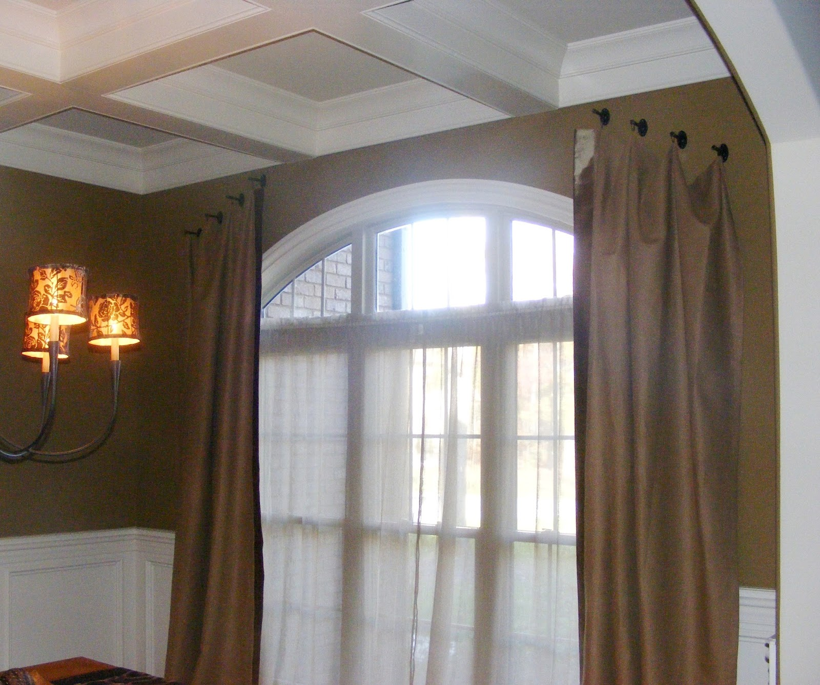 What window treatment is best for an arched window Interior