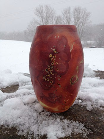 Frozen clay pot by Future Relics Gallery
