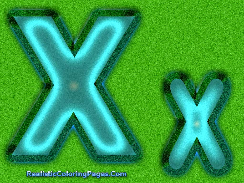 X Letters Alphabet Coloring Sheet