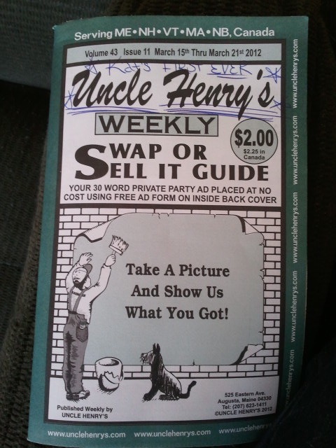 Who Buys Used Cars >> You Can Take the Girl out of the South...: Uncle Henry's