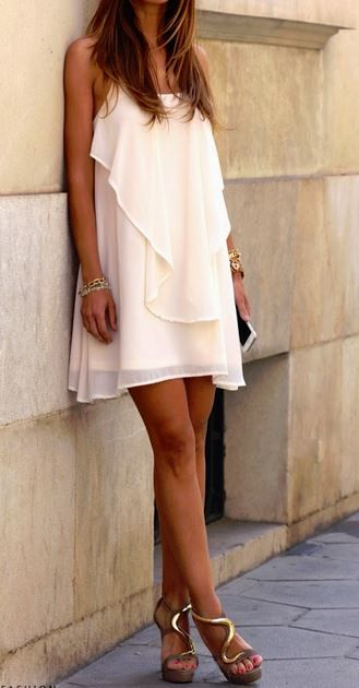 amazing summer outfit: dress + heels