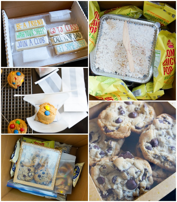how to pack a college care package...with popcorn! ♥ bakeat350.net