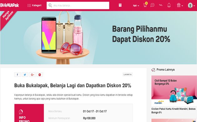 Voucher Bukalapak Oktober 2017 Terbaru - Bukalapak.com