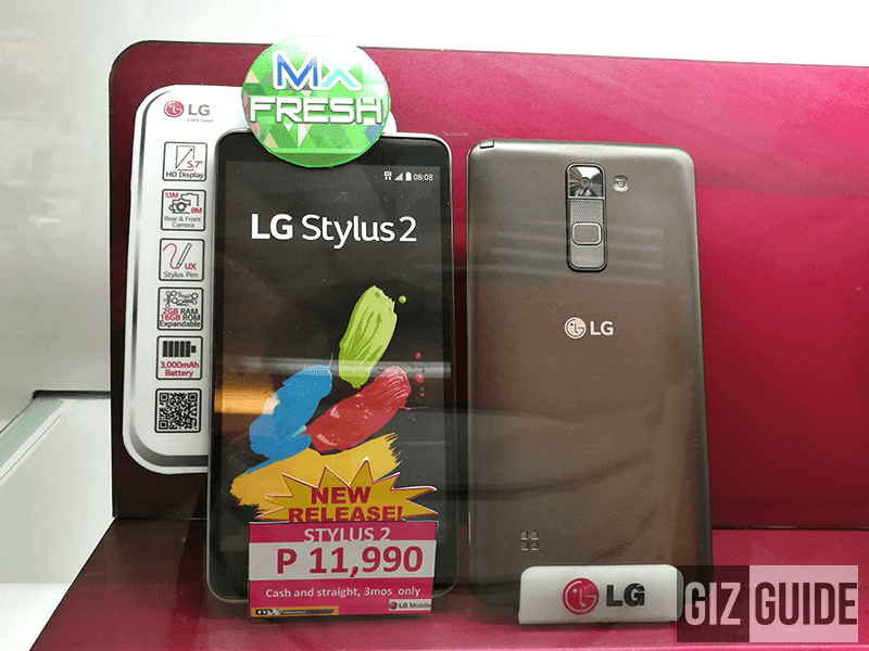 LG Stylus 2 spotted at 11,990 Pesos