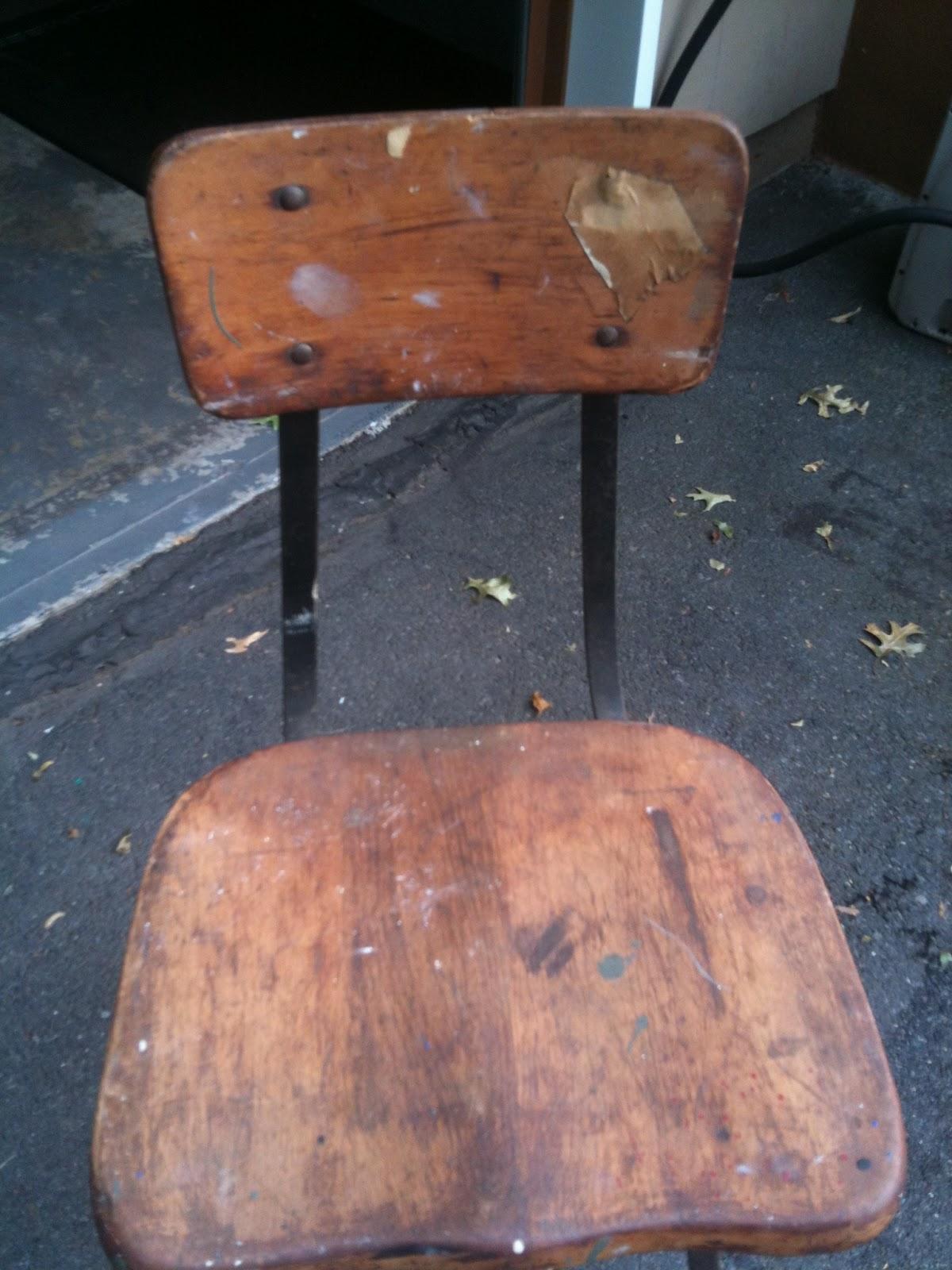 West Furniture Revival Vintage Industrial Stool Before