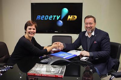 Na foto: Ana Paula Couto e Franz Vacek, Superintendente de Jornalismo e Esportes da RedeTV!  Crédito: Artur Igrecias/RedeTV!