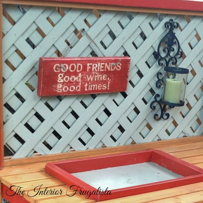 DIY Potting Bench Bar Sign