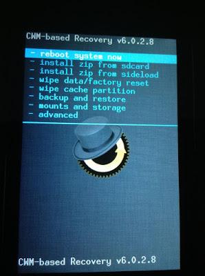 iTel 1701 CWM Recovery