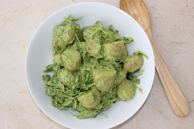 avocado and rocket potato salad
