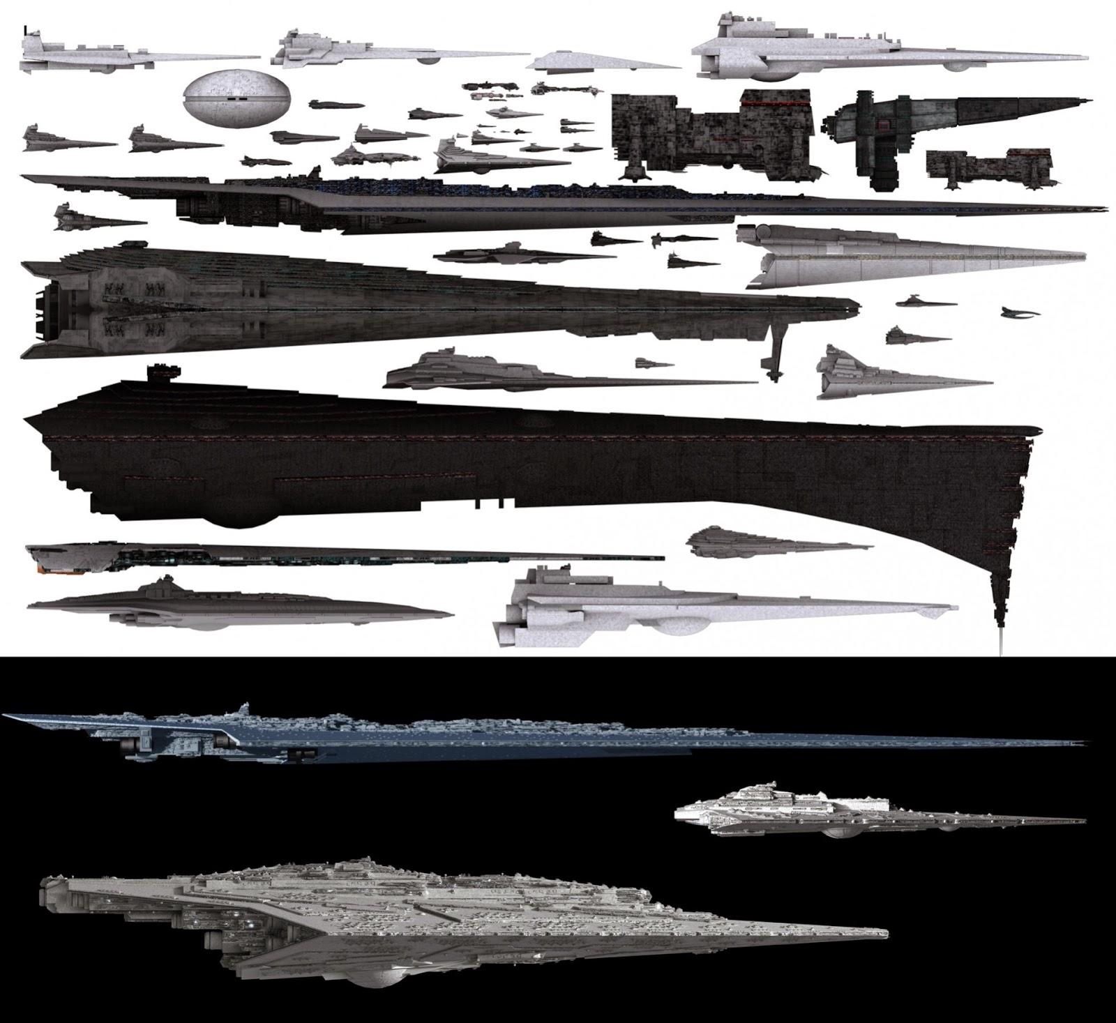 JUEGOSYFRIKADAS Comparativa de tama241o de naves en Star